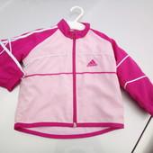 Стоп!!, фирменная оригинал!!! Ветровка на х.б подкладке от Adidas
