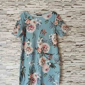 Романтичное нежно-голубое платье в цветочный принт — состояние новой вещи