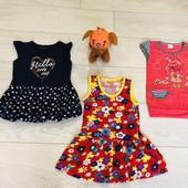 Лот платьев на девочку 2-3 года 3 шт+подарок !