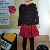 Красивый лонгслив на девочку с блёстками Lupilu Германия размер 110/116