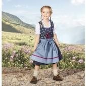 Оригинальный комплект платье, фартук и блузка на девочку Lupilu Германия размер 122