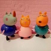 герои из свинки пеппы 3шт