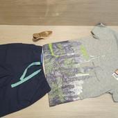 Германия!!! Суперовый лот из коттоновой футболки 110/116 и бермуд 110!