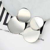 Серьги диски.модные металлические серьги для женщин