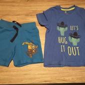 Германия! Сборный наборчик на мальчика, шорты + футболка, 98-104 см.