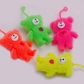 Игрушка мишка йо йо , силиконовый на резинке с подсветкой