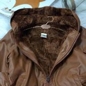 Крутая куртка-кожанка на меху.качество супер много отзывов 170р
