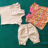 Летние шорты+2 блузки, 1,5-2,5 года