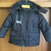 Куртка, демисезон, внутри флис, размер 2 года 92 см. Rebel. состояние отл