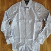 Рубашка приталенная slim fit Mark and Spenser размер L