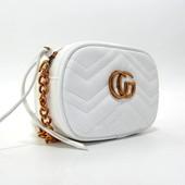 Gucci,маленькая сумочка, премиум качество,белая.