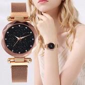 Жіночі годинники Starry Sky Watch на магнітній застібці Gold