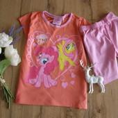 My little pony супер-классный комплект на лето для девочки из хлопка рост 110-116