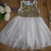 Шикарное платье с пайетками для девочки от Lupilu рост 98-104 Германия