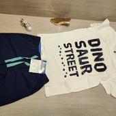 Германия!!! Шикарный лот для малыша! Коттоновая футболка 110/116 и бермуд 116!