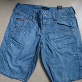 не стрейч джинсовые шорты по бедрам 104см
