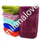 """Пушистое полотенце из микрофибра """" Лилии """" Очень красивое и мягкое Отличного качества"""