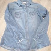 рубашка джинсова janina 36 розмір