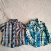 Тениска и рубашка на мальчика 1-2 года