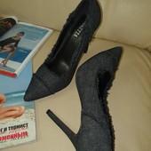 Джинсовые туфли, р.36-37