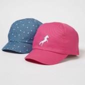 ♥-кепки George 2шт в наборе ,размер 4-8-♥