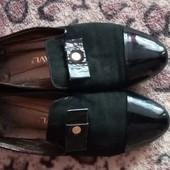 Туфли лоферы натуральная замша