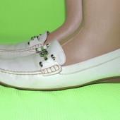 Кожаные туфли 24,5 см geox бразилия дышащая подошва