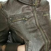 !!!Шикарная эко куртка,размер 36-38.