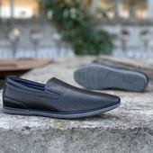 Мокасины с перфорацией. туфли летние. 39р 25,5-26 см