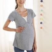 Очаровательная футболочка для будущей мамы от Esmara Германия В лоте размер евро С