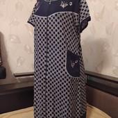 Большие размеры! женские халаты из хлопкового трикотажа, наличие и замеры в лоте, 1 на выбор