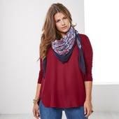 Мягкая легкая шаль, шарф, шарфик с красивым узором от тсм tchibo (чибо), германия