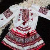 Українська вишиванка на дівчинку