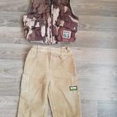 Жилетка и штаны на мальчика 1-2 года