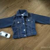 м'якенький джинсовий піджачок на 12-18 міс