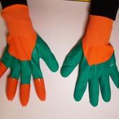 Перчатки с когтями для сада и огорода, перчатки-когти Garden Genie Gloves