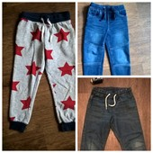 Джинсы Lidl и спортивные штаны и джогеры H&M для мальчика 5-6 лет