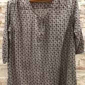 Esmara легкая  батистовая блуза туника  50 размер
