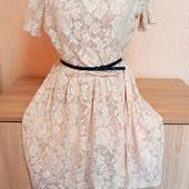 Люкс Сток!! Нежное платье кружево Турция, бренд Zara