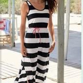 Стильное макси-платье от esmara, размер указан нем 36/38 смотрите замеры!(без пояска)
