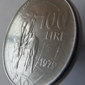 монета Италия, юбилейная 1979, 100 лир, Продовольственная программа - ФАО