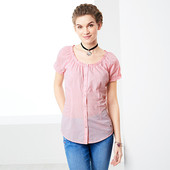 Блуза - рубашка на лето ! от Tchibo (Германия), размеры наши: 48 / 50 наш - ( 42 евро)
