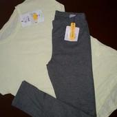 Фирменная футболка и лосины одним лотом, размер 146