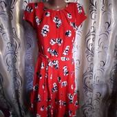 Легкое платье в цветочный принт, 14р uk. 42 euro Dorothy Perkins
