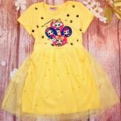 Красивое яркое платье с Лол . Турция. Размер 7-8