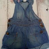 Джинсовый комбинезон, ромпер из тонкой джинсы