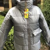 Весна-осень, утепленная курточка для девочек, р.140-158