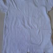 Стильная белая футболка на девочку 108/116