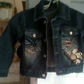 Новая куртка джинсовая для мальчика рост 98-104 , на 2--3 года