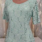 Блуза из кружева с пайетками